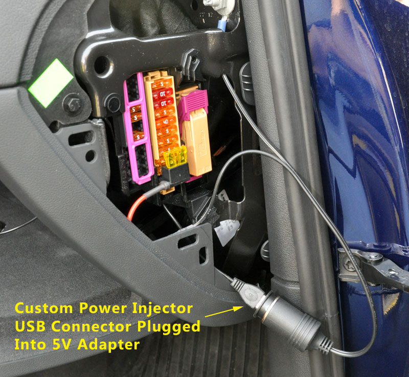 Car Fuse Box Usb : Tuck the wires and socket v adapter into cavity as